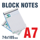 Block Notes incollati A7